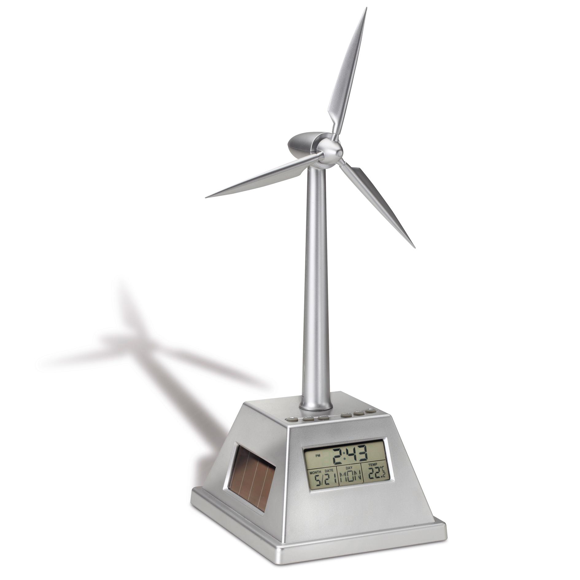 Uhr mit solarbetriebenem  ...
