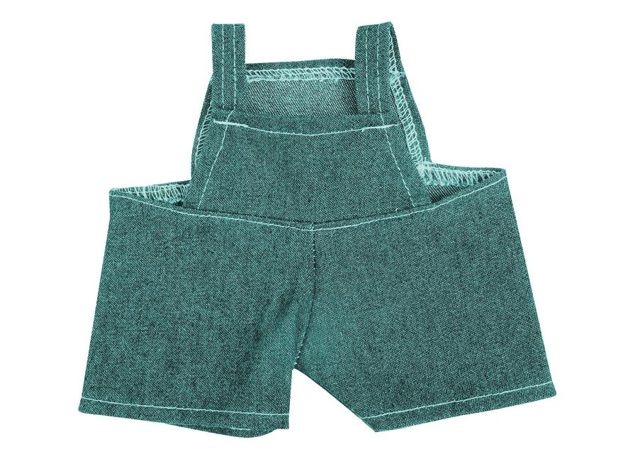 Jeans-Latzhose für Plüs ...