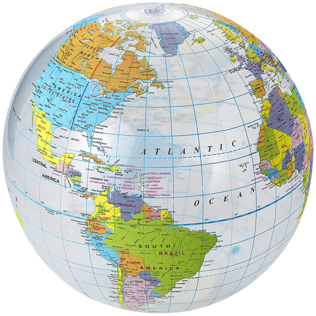 Globe Strandball, transpa ...
