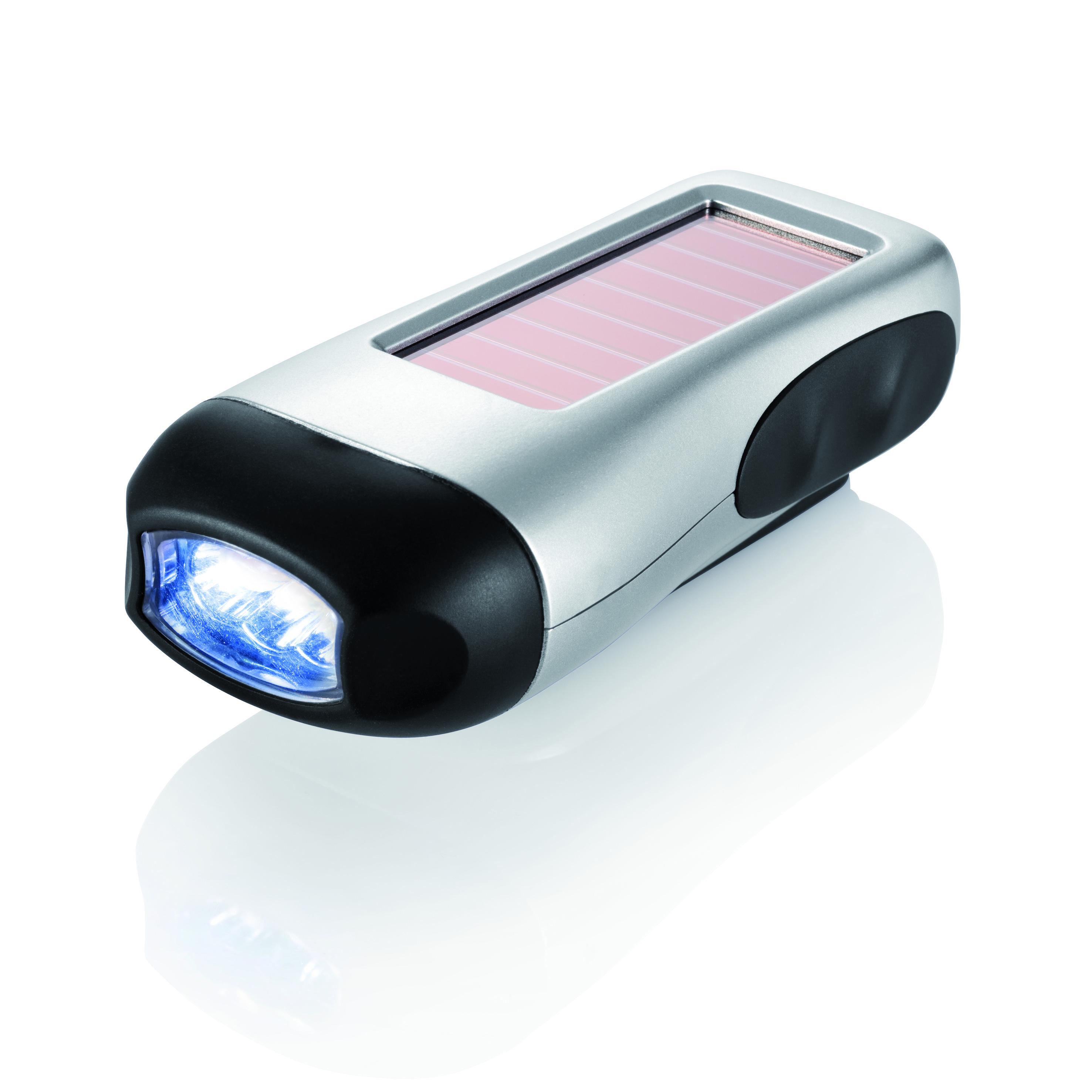 Taschenlampe mit Solar- & ...